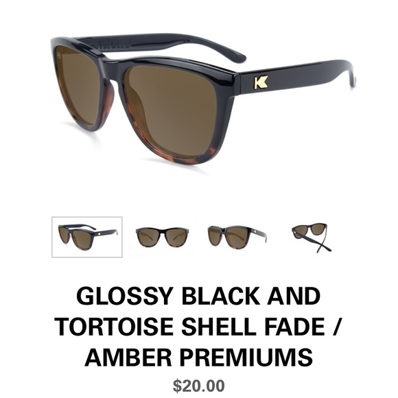 155938cfab knockaround Accessories - GLOSSY BLACK   TORTOISE SHELL FADE  AMBER PREMIUMS